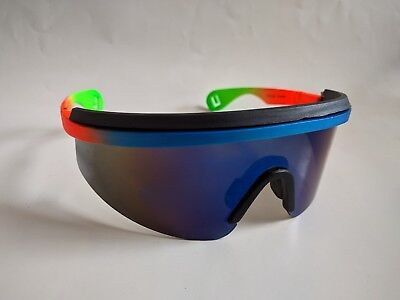 Vintage 80's Killer Loop style Blade sports 10 base Wrap Around Sunglasses