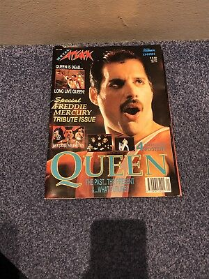 Queen Freddie Mercury Metal Attack Tribute Magazine With Posters