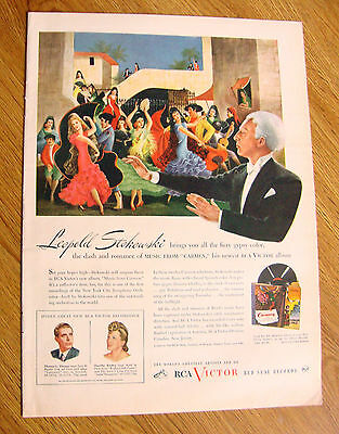 1945 RCA Records Ad Leopold Stokowski Music from Carmen
