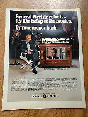 1970 GE General Electric TV Television Ad Hollywood Movie Star Burt Lancaster