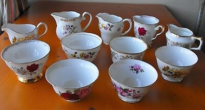 Assorted Vintage China Milk Jugs & Sugar Bowls - Wedding, Birthday, Tearoom