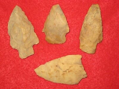 Authentic Native American artifact arrowhead 4) Missouri points BN32