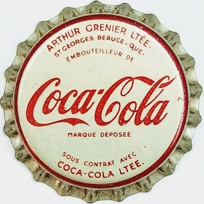 COCA-COLA ARTHUR GRENIER QUEBEC CANADA Soda Bottle Cap Crown UNUSED CORK Caps