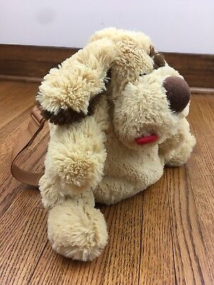 Jeep Plush Puppy Dog Backpack 2011 Golden Brown Red Tongue Toddler
