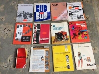 12 Vintage Electronics Parts Catalogs from early 70's