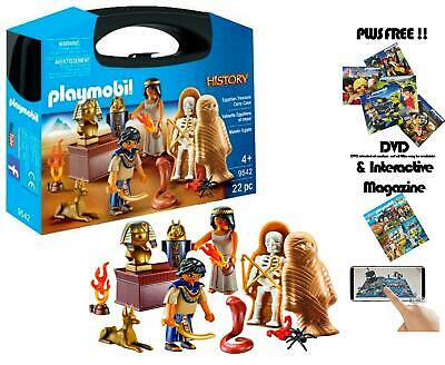Playmobil History 9542 New Free UK P/&P Egyptian Treasure Carry Case
