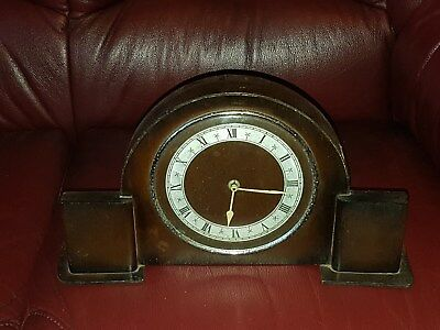 art deco mantle clock made in gt britain