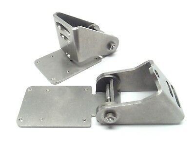 """Lot of 2 Stainless Steel Hinges 2"""" Width 3-15/16"""" Length"""