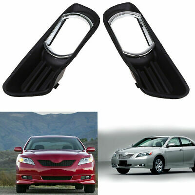 For Toyota 2007-09 Camry Front Bumper Light Hole Cover Pair 52127-06050 Black TZ