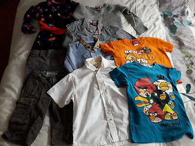 boys 5-6 clothes bundle timberland fat face hm angry birds etc