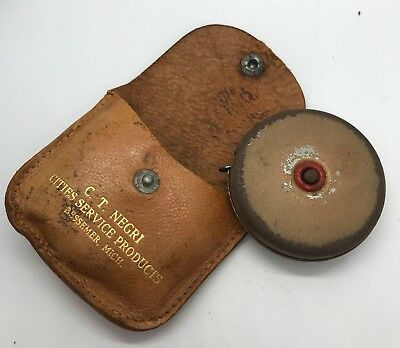 Vintage Advertising CITIES SERVICE Tape Measure Leather Snap Pouch