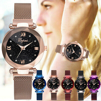 Fashion Starry Sky Stainless Steel Mesh Belt Watch Casual Quartz nalog Watch CA