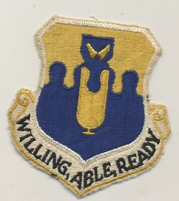 US Air Force USAF  43rd Bombardment  Group patch  Willing Able Ready