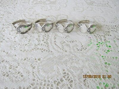 (4) Gorham Chantilly Sterling Napkin Rings No Mono