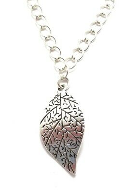 Leaf Charm Bracelet Sterling Silver Plated Chain Women's Fall Jewelry Handmade