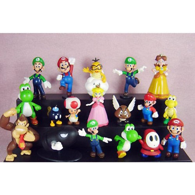 "18pcs Set 1-3"" Super Mario Bros Figure Toy Doll Pvc Collectors By ref4"
