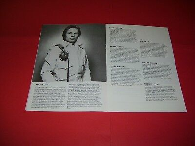 Adam Faith Stephen Poliakoff Natasha Pyne 1976 UK Theatre Programme