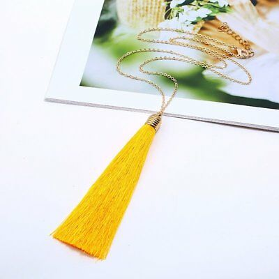 Fashion Tassel Boho Ethnic Pendant Necklace Women Sweater Chain Jewelry Gift Hot
