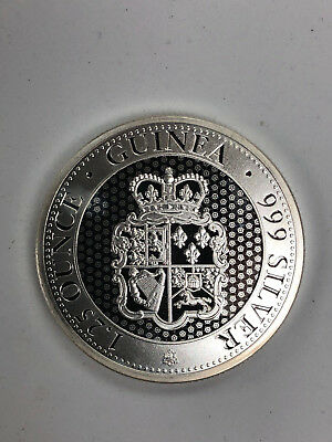 """Extremely Rare Saint(St.) Helena - """"Rose Crown"""" Guinea, 2018,1.25 oz SILVER Coin"""