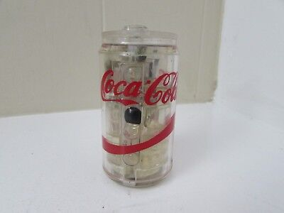Coca Cola Lighter Clear Lucite Can Red Letters RARE