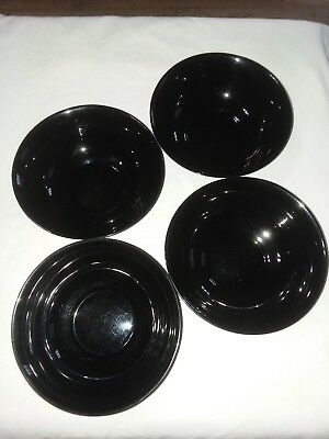 Arcoroc France Yucatan Aztec Soup Cereal Salad Bowls Blue/Black set of 4