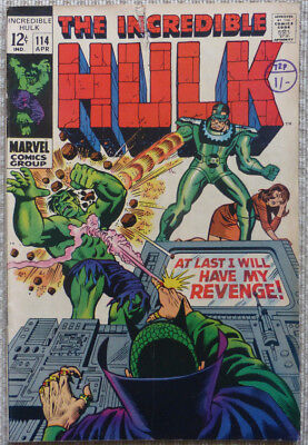 HULK #114, SILVER AGE CLASSIC with 'THE SANDMAN'.
