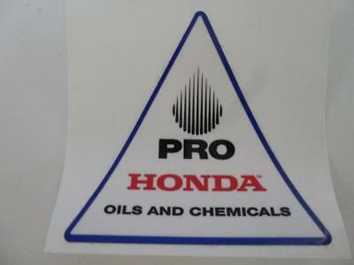 Honda Pro Oil Sticker decal distributed by American Honda Motor Not Reproduction
