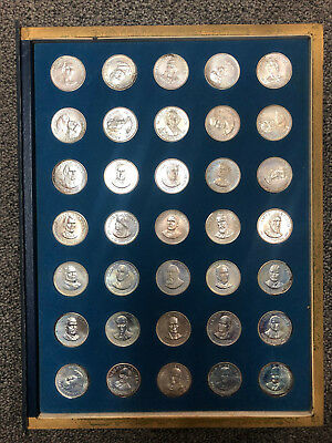 The Franklin Mint Treasury Of Presidential Commemorative Medals Sterling Silver