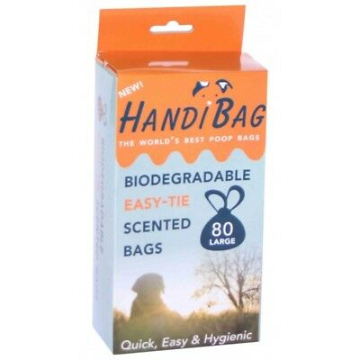 HandiScoop LEDED Handibags Sacs de Merde Parfumés Biodégradables Easy-Tie pour C