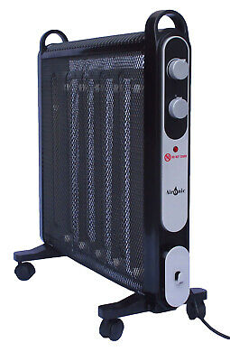 Aironic Black 2000W Electric Mica Convector Panel Heater