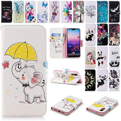 Case For Huawei P Smart 2019 Magnetic Flip Leather Wallet Card Slots Stand Cover