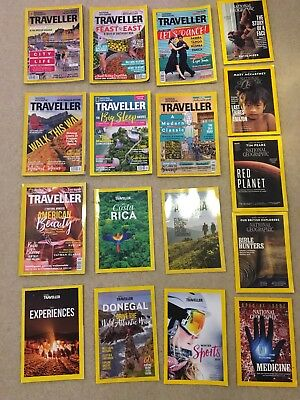 National Geographic 12 Job Lot Of Traveller & Monthly Magazine inc Latest Issues