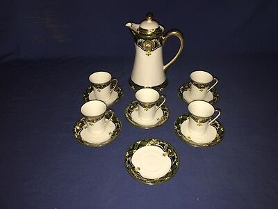 Antique Hand Painted NIPPON (Chocolate) Tea Set ~ Teapot ~ Cups & Saucer