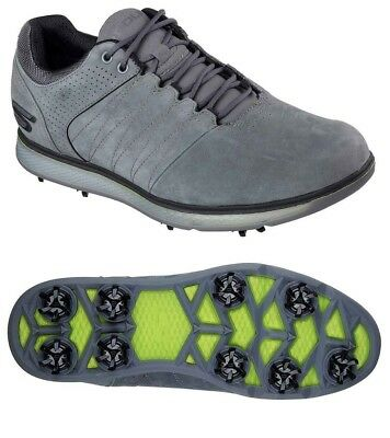94eb687510af Nwt Men s Skechers Go Golf Pro 2 Lx Spikes 54510-Ccbk Charcoal Black Sz 13