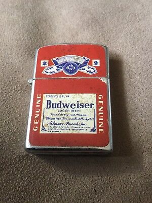 Distressed look Budweiser lighterNew condition