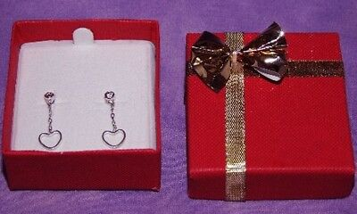 Bowtie Earring Box 24 Qty Red In Color