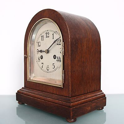 German JUNGHANS CLOCK Mantel Antique BAUHAUS! GONG Chime 1920s FULLY RESTORED!