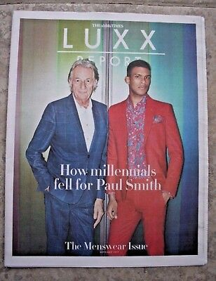 "LUXX Report ""The Menswear Issue"" Sept 2017 Times Newspaper Supplement 18 pages"