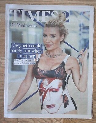 """Super Trainer"" Tracy Anderson 2017 ""Times 2"" UK Times Newspaper Supplement"