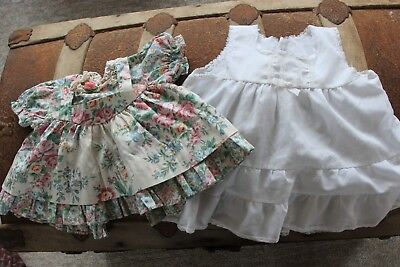 70's Vintage Baby Dress Lot of 7 Infant size 0-3 month  3-6 month lace, floral