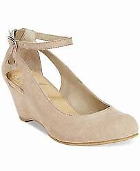 a22a90413c Ameican Rag Women's Miley Chop Out Wedge Heel Suede Shoes Taupe 7M $59.50