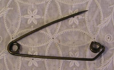 Antique Brass Safety Pin Laundry Tag 4 3/8 Inch Heavy Duty Awesome