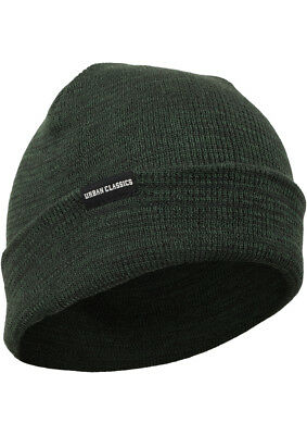 URBAN CLASSICS MELANGE Beanie lungo Base Flap Jersey Inverno ... b518be6cd36d