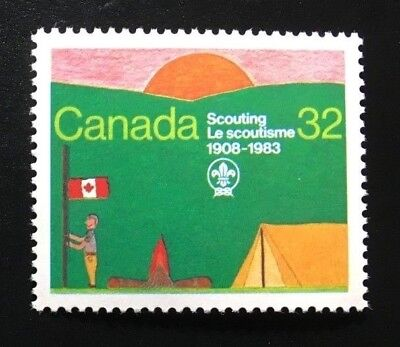 Canada #993 MNH, Canadian Scouting - Scout Encampment Stamp 1983