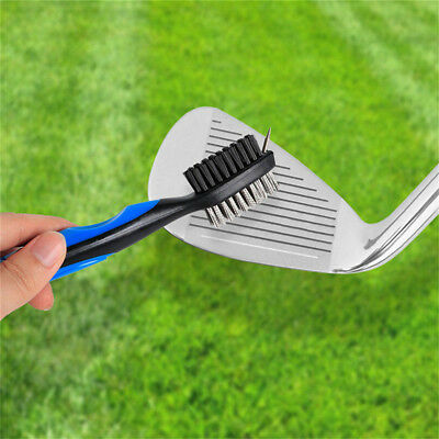 Golf Brush Club Groove Cleaner Easily Attaches to Golf Bag Blue Nylon Wire