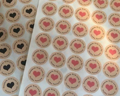 Personalised Handmade With Love Shabby Kraft Wool Favours Chic Stickers  1164