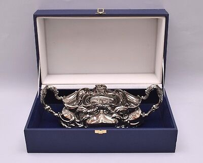 Beautiful Repousse Sterling Silver Centerpiece. In Its Original Box
