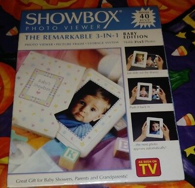 NEW SHOW BOX PHOTO VIEWER BABY EDITION 40 Pictures 3 in 1 STORAGE FREE SHIPPING