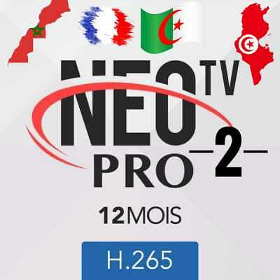 Neo Pro 2 ABONNEMENT 12 mois,smart Iptv,vlc android TV box, mag,H265, Amazon