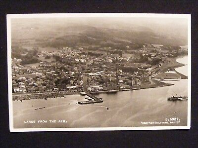Vintage Largs From The Air Real Photographic Aerial Scottish Postcard